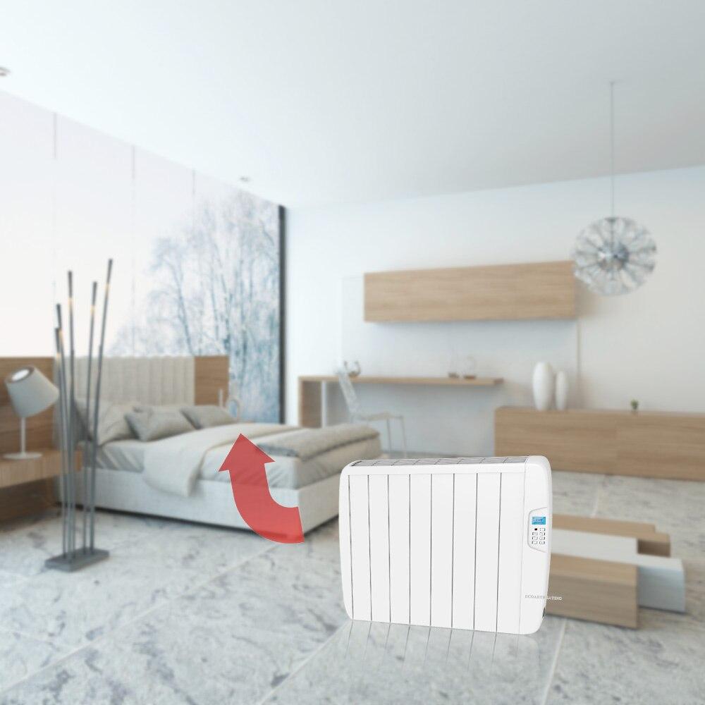1500 Watt Elektrische Timer Flachenheizung Wand Slimline Aluminium