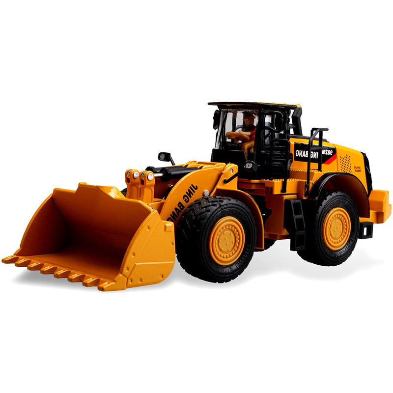1:50 Scale Aolly Construction Toy Vehicles Digger Truck Tractor Trailer Gift Box