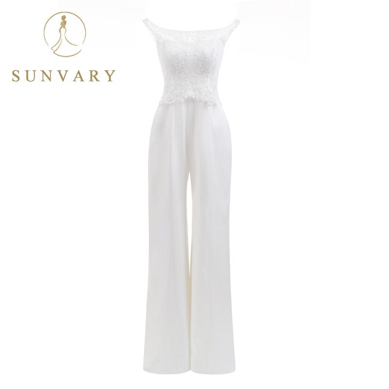 Sunvary Egyedi legmelegebb New Bateau Jumpsuits esküvői ruhák - Esküvői ruhák