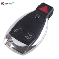 KEYYOU 3+1 4 Buttons Remote Car Key Fob 315MHz For Mercedes Benz 2000+ Year BGA Auto Car Key For Benz
