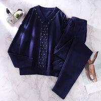 Трикотажный костюм небесно-голубого цвета