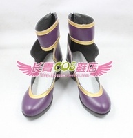 Song Of Time Project Miyo Grevin Purple Halloween Gilrs Cosplay Shoes C006