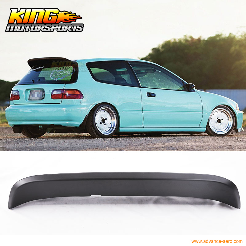 Fit For 92 95 Honda Civic 3DR EG EH Spoon Duckbill Style ...