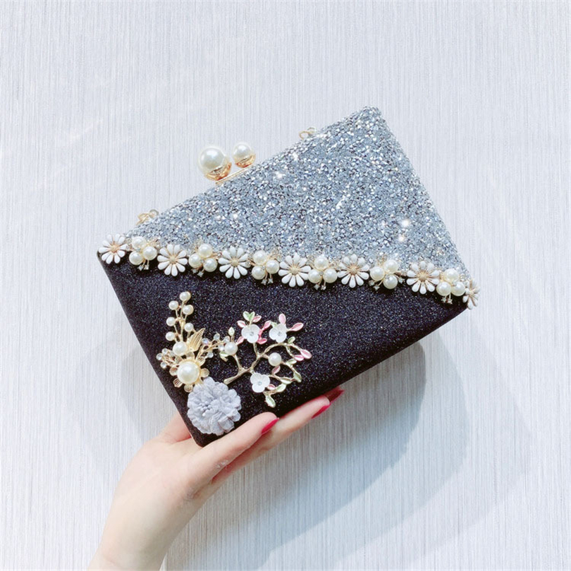 Handbag Casual Evening-Bag Floral-Shoulder-Bag Party-Day-Clutches Elegant Woman's Fashion