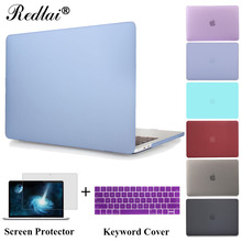 Nouveau mat cas dur de couverture pour macbook pro 13 a1706 pro 15 A1707 avec TouchBar Sac D'ordinateur Portable Pour Mac Book Pro 13 A1708 Protéger Shell