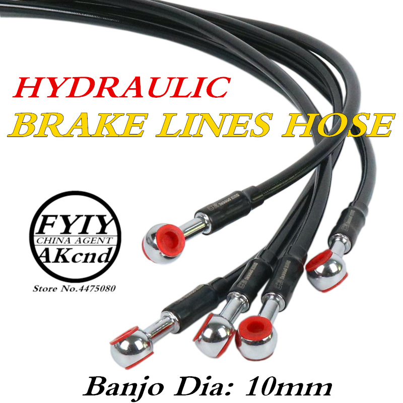 Universal 950/2200/2300cm Motorcycle brake Hose Braided Steel Brake Clutch Oil Hose Line Pipe for smax nmax155 pitbike pcx-in Levers, Ropes & Cables from Automobiles & Motorcycles