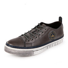 New Arrival Spring The Trend Classic Popular Men Casual Shoes Fashion Vintage Low Top Genuine Leather Men Shoes