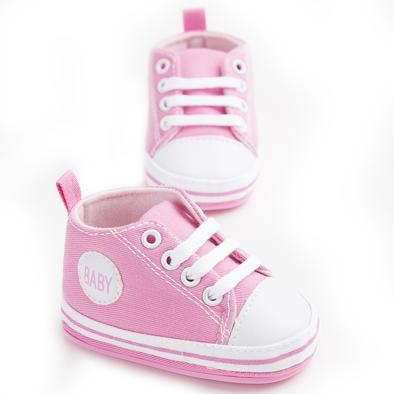 Pink Newborn Baby Soft Bottom Anti-slip Prewalker Shoes