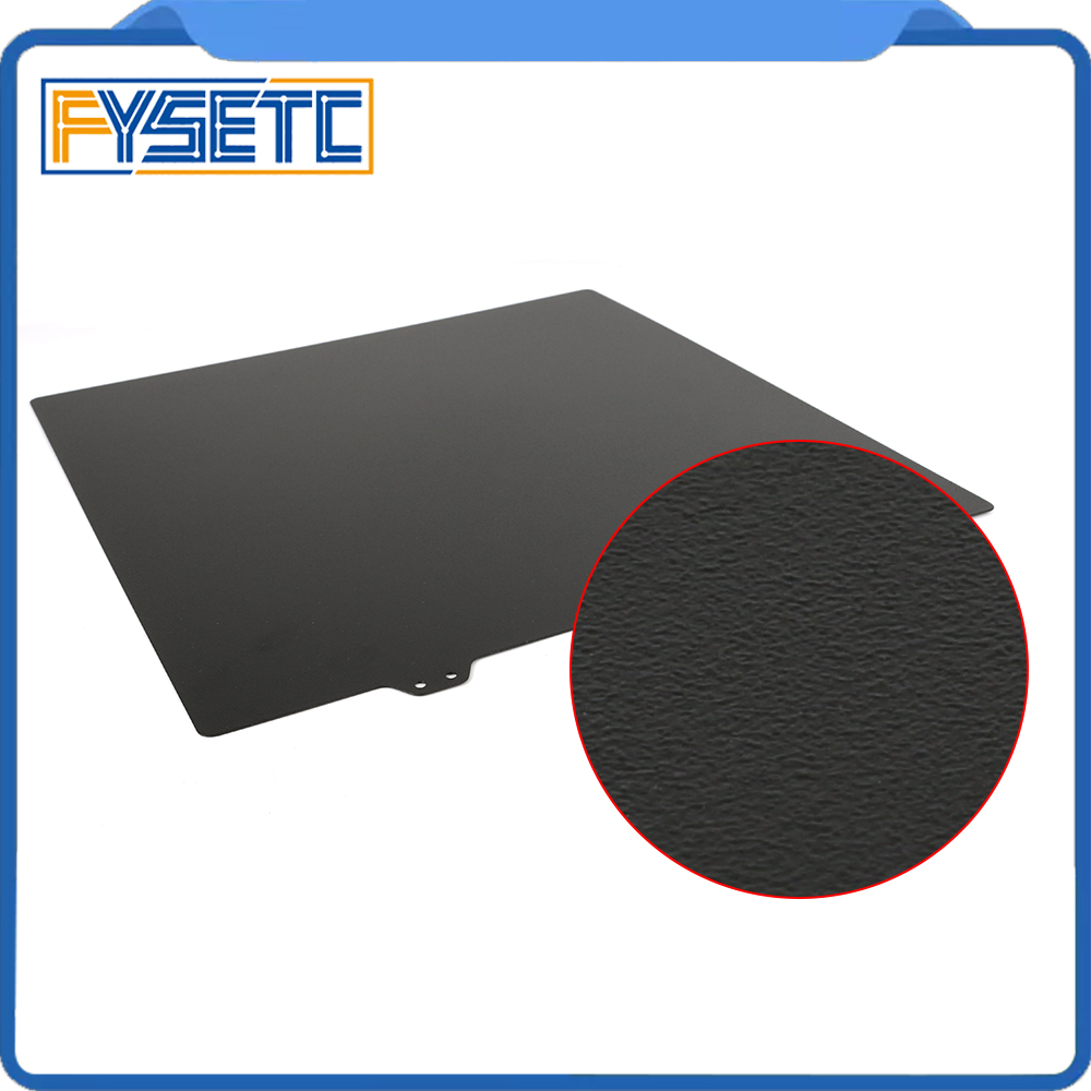 235x235mm Black Double Sided Textured PEI Spring Steel Sheet Powder Coated PEI Plate For Creality ENDER-3 / Ender 3s Tevo Flash