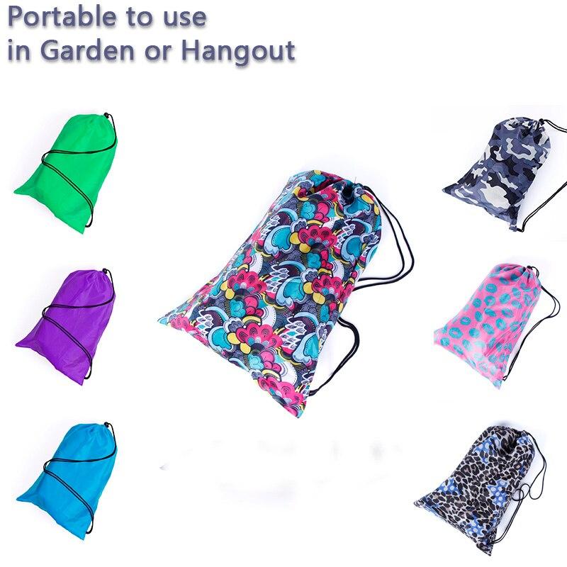 Plaj çantası Mekân yatıyordu uyku Hava Yatağı Şezlong laybag Açık hızlı şişme katlanır uyku tembel çanta