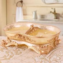 Caja de jabón de resina clásica, caja dispensadora de jabón, estante de jabón, caja de plato de ducha de baño, accesorios de baño para Hotel o hogar 64