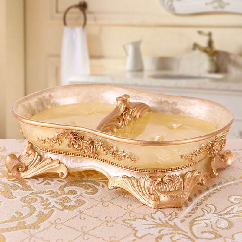 Vintage Resin Soap Dish Box Dispenser Soap Rack Bath Shower Plate Box Home Hotel Toilet Bathroom Accessories 64