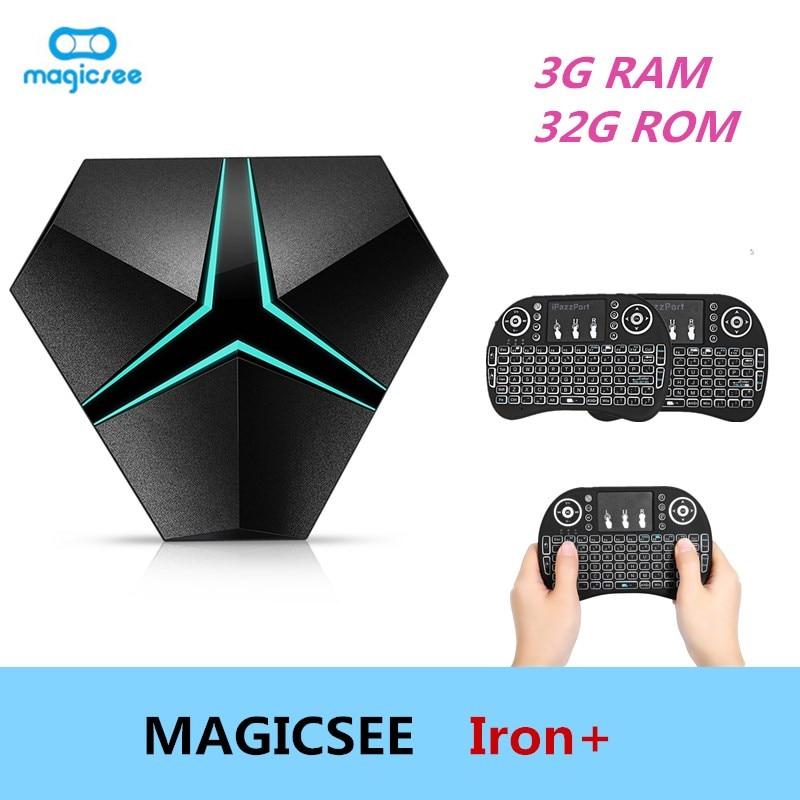 Magicsee Iron+ TV BOX Amlogic S912 Octa Core 3G 32G Android 6.0 Set top box Wifi OTA Update Lan 1000M BT4.1 Media Player 4K HD original magicsee iron andriod 6 0 amlogic s905x 64 bit quad core cpu 2g 16g wifi 4k uhd tv box 2 16g media players tv set