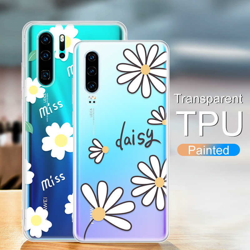 Fashion Plants Leaves Printed Case For Huawei P30 Pro P20 Lite Mate 20 10 Pro Soft Pattern Cover For Huawei Mate 20 Lite P30 P20