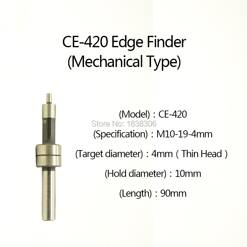 1pcs Mechanical type Edge Finder CE-420 10MM for Milling Lathe Machine Touch Point Sensor including Milling Cutter плед edge point yd201504