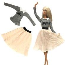 NK Neueste Puppe Kleid Casual Rock Mode Tanz Ballett Kleid Party Kleid Für Barbie Puppe Zubehör Baby Spielzeug Geschenk 04A DZ