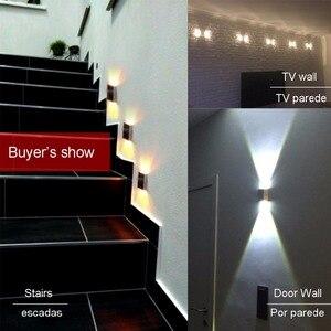 Image 5 - 3pcs/lot Square Led Wall Lamp Sconce Led wall Light arandelas para parede Aluminum 3W 110V 220V KTV BAR Step Stair Foyer JQ