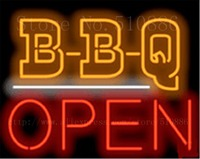 B-B-Q Open BBQ  Barbeque Glass Tube neon sign Businese Handcrafted Light Outdoor Shop Store Signs Signboard Signage 19