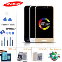 Super AMOLED 4.3 Sinbeda For SAMSUNG Galaxy J110 LCD Touch Screen Digitizer For SAMSUNG J1 Ace Display SM J110F J110H SM J110FM