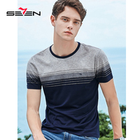 Seven New Clothing Fashion T Shirt Business casual striped mercerized cotton short sleeve T shirt Summer Top 116T50270