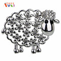 AMGJ New Arrivals Rhinestone Aniaml Sheep Brooches For Women Brooches Jewelry Fashion Pins