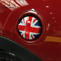 AMBERMILE ABS Union Jack Car Fuel Tank Cap Cover Stickers Decoration for Mini Cooper Clubman F54 F55 F56 Accessories Car Styling