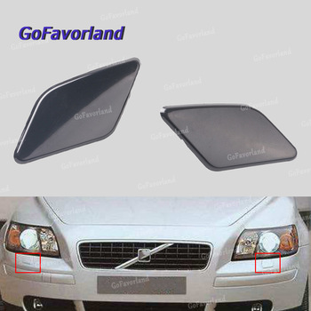Front Bumper Left Right Headlight Washer Nozzle Cover Unpainted 39886377 39886397 For Volvo S40 V50 2008 2009 2010 2011 2012 image