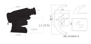 Image 5 - アルミ合金シルバー屋外 4500 ルーメン御坊プロジェクター防水 30 ワット 40 ワット 50 ワット 60 ワット 80 ワット 100 ワットカスタム画像プロジェクター光画像
