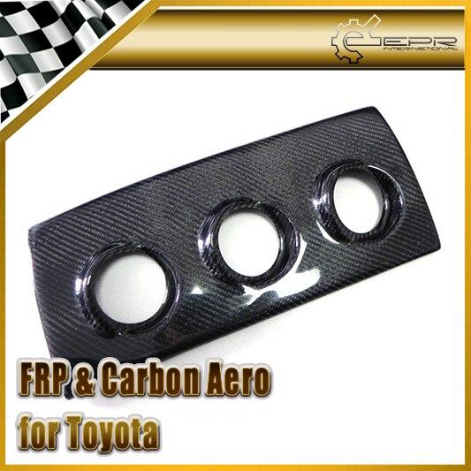 Car Styling Carbon Fiber Glove Box Triple Gauge Pod 52mm or 60mm RHD For Toyota MK4