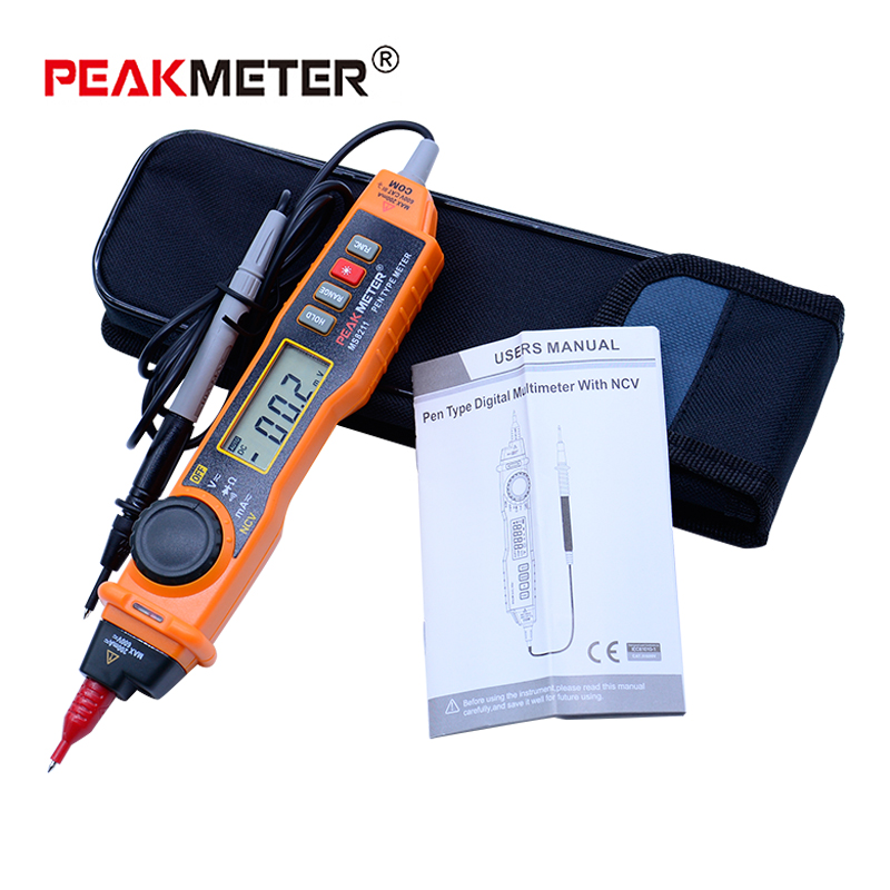 Digital Multimeter 2000Counts Pen Type with Non Contact HYELEC MS8211 ACV/DCV Electric Handheld Tester Multitester