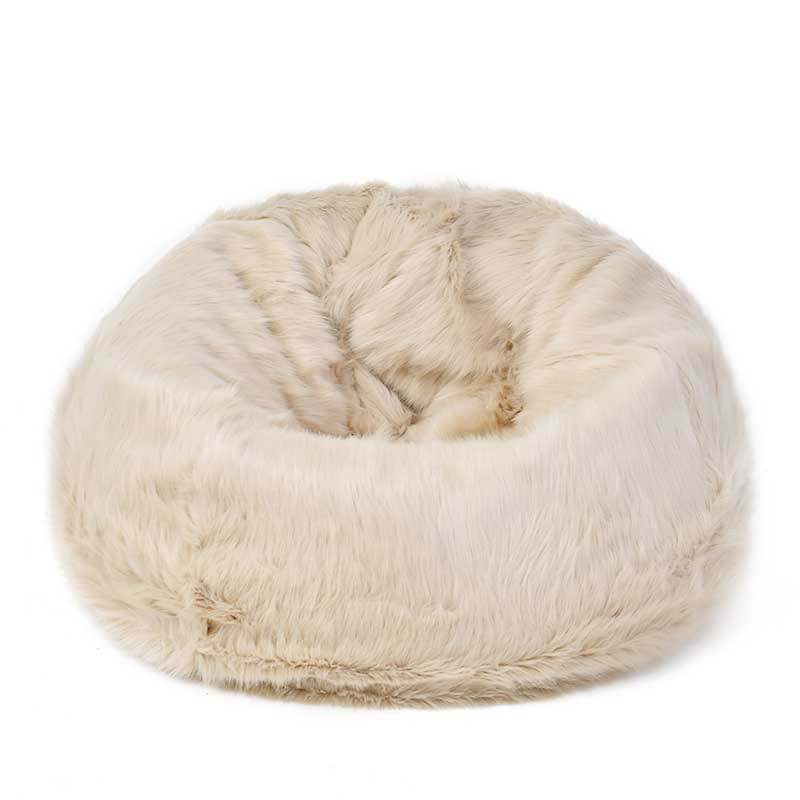 Amazing Dancebear Comfortable Faux Fur Bean Bag Chair Cover Without Machost Co Dining Chair Design Ideas Machostcouk