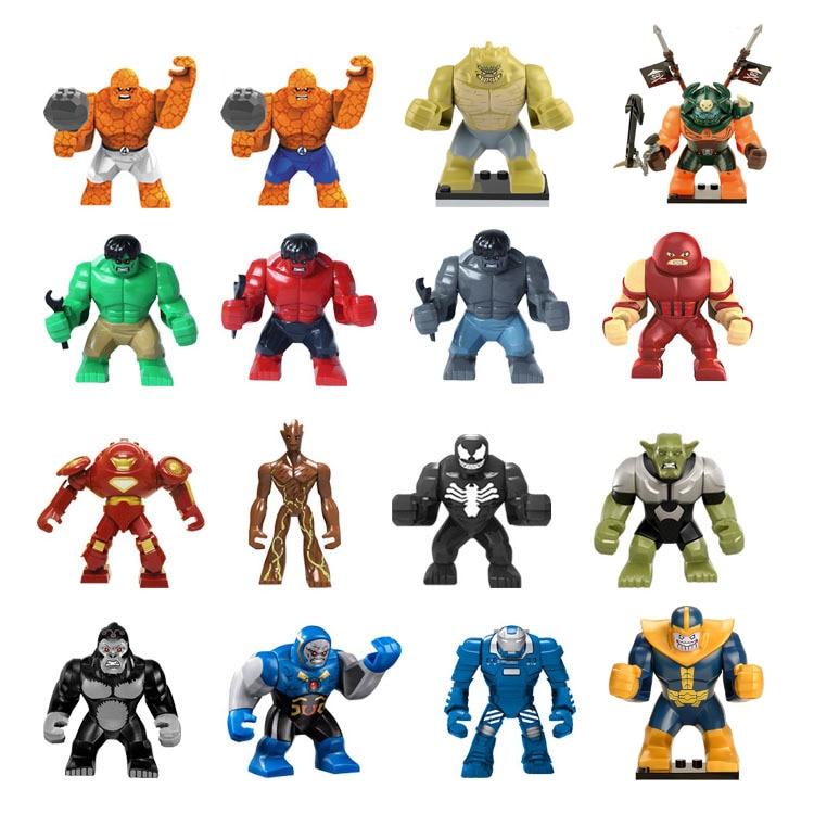 Single Sale Large Figures super cool Hulk Buster Thanos legoing Dogshank Venom Iron Man Building Blocks