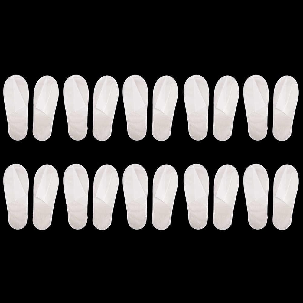 1/5/10 çift Dayanıklı Tek Kullanımlık Otel Seyahat Spa terlikleri Ev misafir terliği beyaz Spa Konuk Ayakkabı