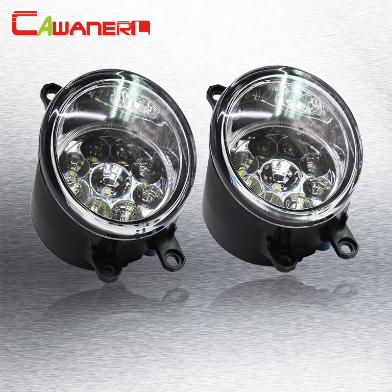 Cawanerl 1 Pair H8 H11 Car Daytime Running Light Fog Light DRL LED Light White Blue Orange For Toyota Yaris Vitz Hatchabck 2005- cawanerl h8 h11 auto fog light drl daytime running light car led lamp bulb for toyota prius hatchback zvw3 1 8 hybrid 2009