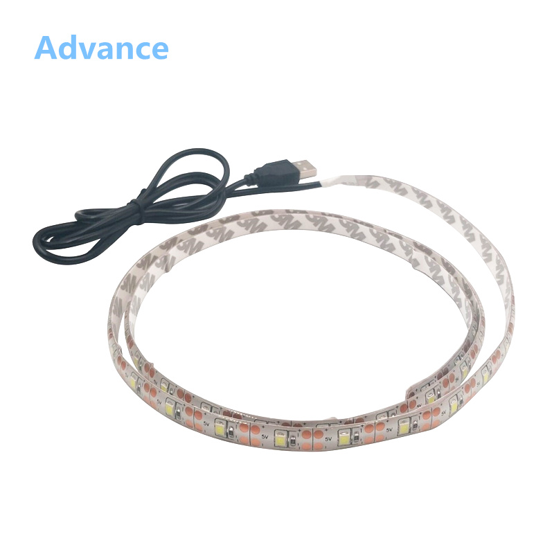 USB LED Strips SMD3528 light 5V adapter string Christmas desk Decor lamp tape For TV Background Lighting 5V 50CM 1M 2M 3M 4M 5M