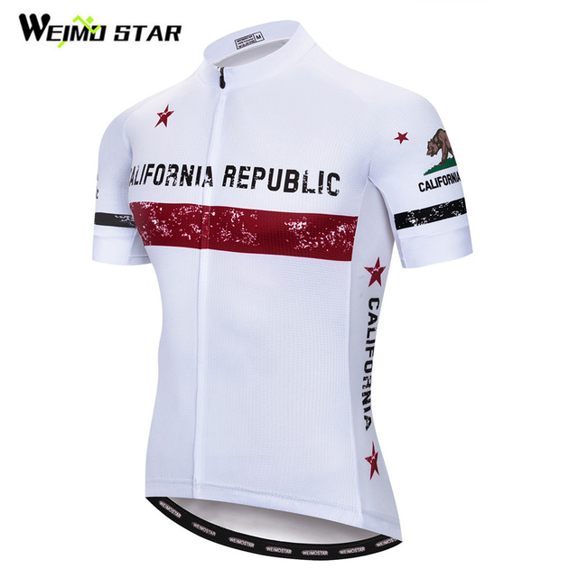 2b9650399 Weimostar CALIFORNIA REPUBLIC Team Cycling Jersey Men Summer mtb Bike  Jersey Quick Dry Anti-sweat Bicycle Shirt Cycling Clothing