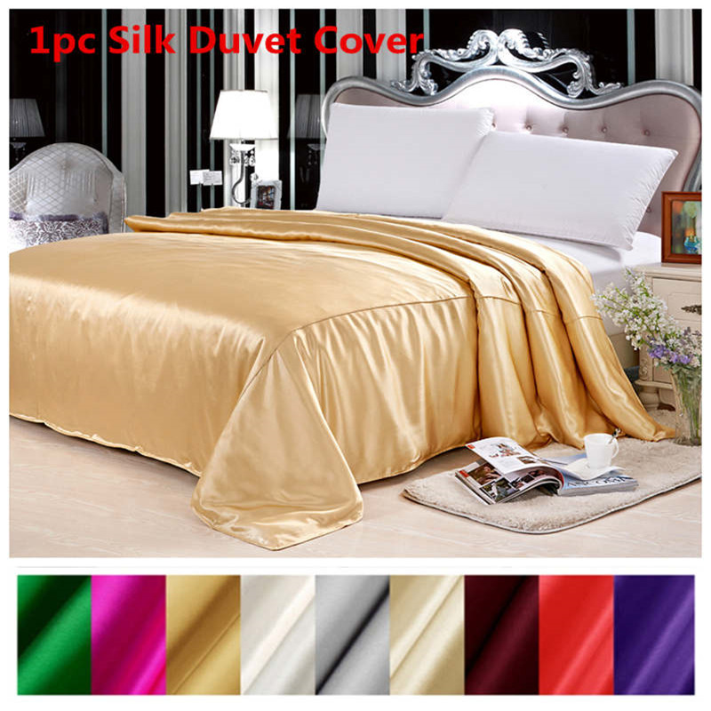 Kołdra jedwabna pokrywa 1 pc 100% morwy jedwabiu Multicolor Silk stałe jedwabiu Twin pełna królowa król Cal. typu King Size można dostosować ls170901 w Kołdra od Dom i ogród na  Grupa 1