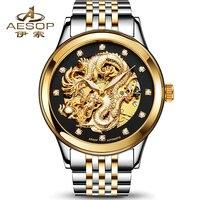 2017 Fashion Watches Men Low Price High Quality Mechanicanl Watch Male Dress Watch Luxury Brand Skeleton