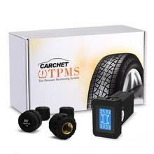 Carchet tpms presión de los neumáticos sistema de monitoreo inteligente + 4 sensores externos para toyota alarma llantas de monitor de presión de neumáticos