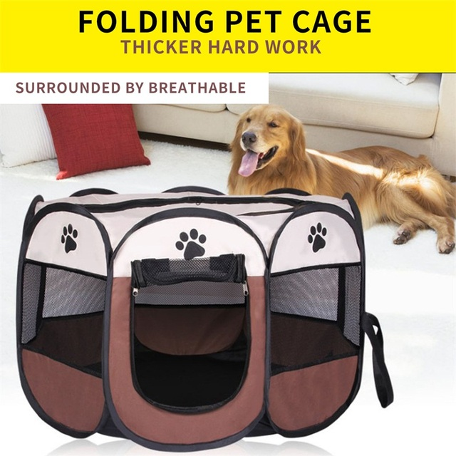 Nylon practical breathable outdoor dog cat cage house kennel playpen tent fence dog octagonal cages for & Nylon practical breathable outdoor dog cat cage house kennel ...
