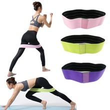New Silicone Slip Cotton Hip Resistance Bands Booty Elastic Exercise for Thigh Hips Glutes Bridge Fitness Workout