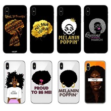 2bunz Melanin Poppin Aba Cases For iPhone X Fashion Black Girl Soft TPU Phone Cover For iPhone 5 5S SE 6 6SPlus 7 7 Plus 8 8Plus цены онлайн