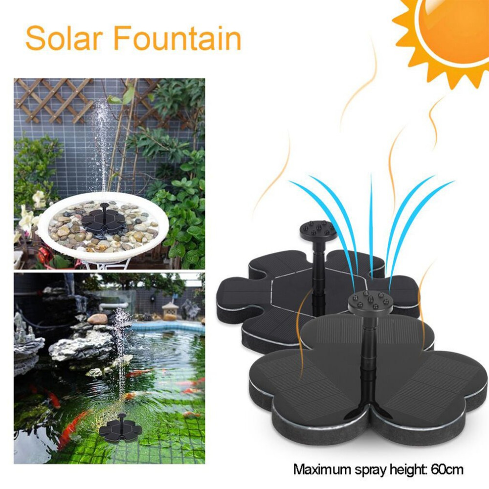 Solar Powered Water Pump Panel Kit Lotus Leaf Floating Pump Water Fountain Pump For Pool Garden Pond Watering Submersible Pumps in Water Pumps from Home Garden