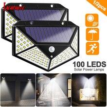 100 LED Четырехсторонний Свет Солнечной Энергии 3 Режима 120 Угол Датчика Движения Солнечной