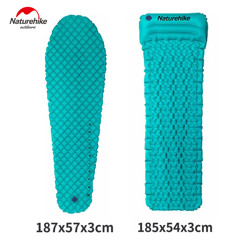 NatureHike Outdoor Tent Sleeping Pad Ultralight Comfortable Camping Hiking Foldable Inflatable TPU Air Mattress With Pillow