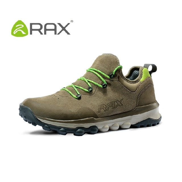 Rax Men Casual Shoes Breathable Men Leather Shoes Slip High Quality Damping Eva Sole Outdoor Shoes Size 36-44 #B2025