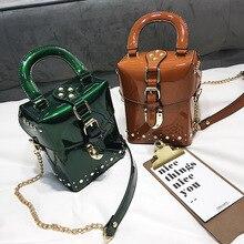 แบรนด์ที่มีชื่อเสียงเพชรกล่องกระเป๋าถือ Mini Cube แบรนด์ Original Design กระเป๋า Crossbody สำหรับกระเป๋า Messenger ผู้หญิง