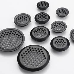 4 шт шкаф сетки отверстие черный вентиляционные решетки вентиляционная крышка Нержавеющаясталь резки отверстия