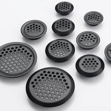 10pcs/lot Wardrobe Cabinet Mesh Hole Black/Silver Air Vent Louver Ventilation Cover Stainless Steel Black color