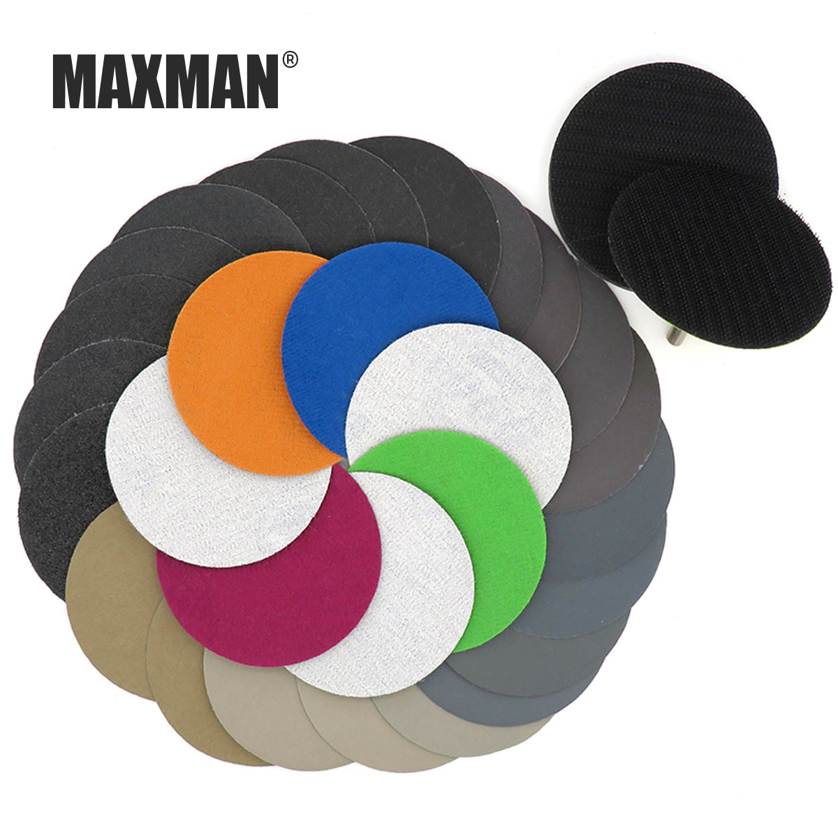 MAXMAN 3 inches Abrasives sandpaper Professional Polishing tools Wet dry Dual use Plastic jade car Polishing disc sanding pad